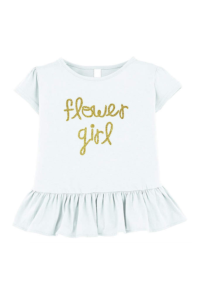 Flower Girl Ruffle Shirt - This adorable Flower Girl Ruffle Shirt is perfect