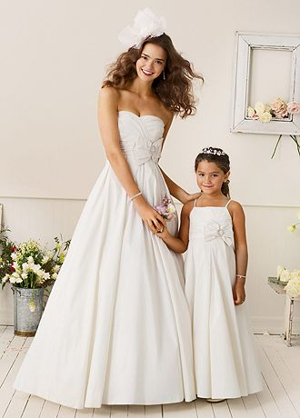 Shantung Taffeta Ball Gown with Bow Detail