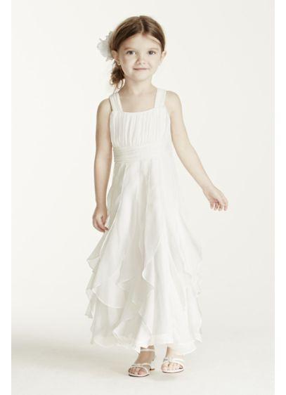 Short A-Line Spaghetti Strap Communion Dress - David's Bridal
