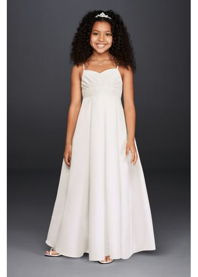Full Length Flower Girl Dress with Straps FG3707
