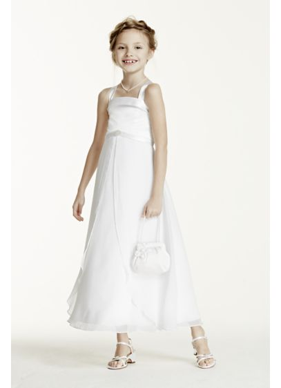 Long Sheath Spaghetti Strap Communion Dress - David's Bridal