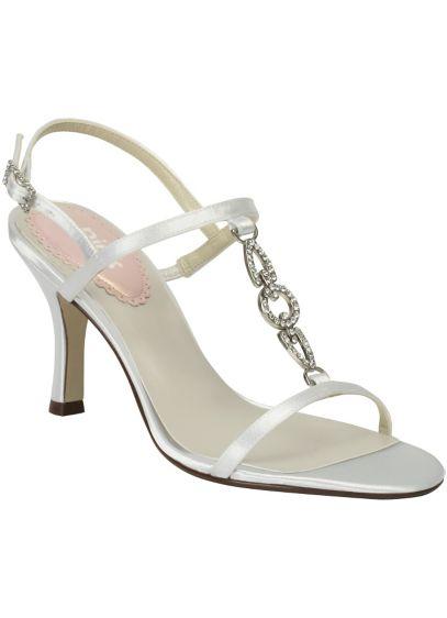 Pink Paradox White (Pink Paradox Crystal Link T-Strap Sandal)