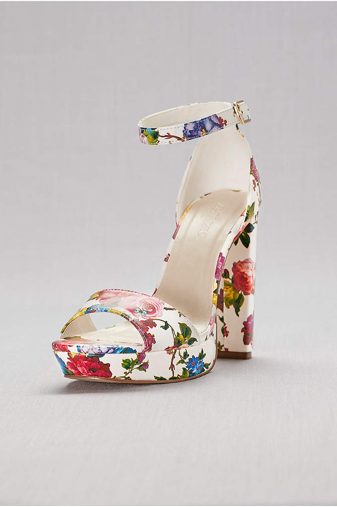 Floral Platform Heels - A fresh botanical print grows all over these