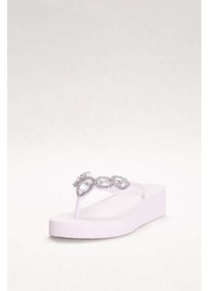 Jeweled Wedge Flip-Flops  FOREVER