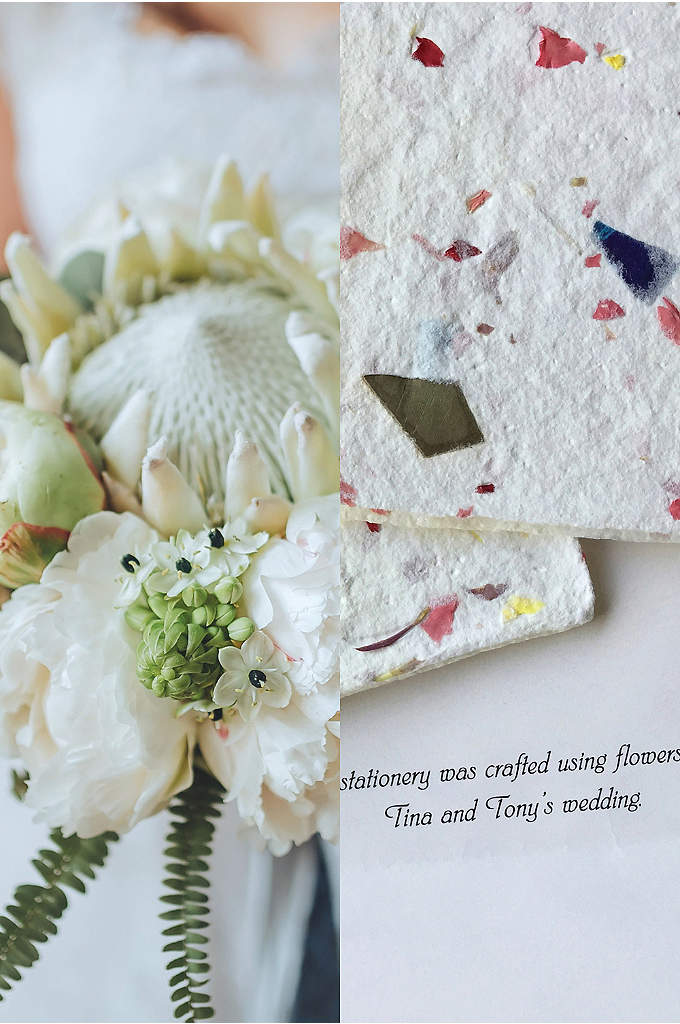 Personalized Wedding Flower Notecards Set of 50 - Floral Expressions utilizes the centuries old craft of