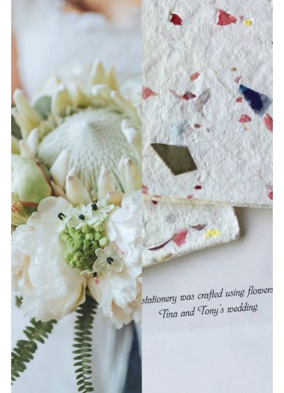 Personalized Wedding Flower Notecards Set of 50 - Wedding Gifts & Decorations