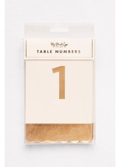 Scalloped Metallic Table Numbers - Wedding Gifts & Decorations