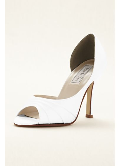 Touch Ups White (Flash Dyeable Satin D'orsay Pump by Touch Ups)