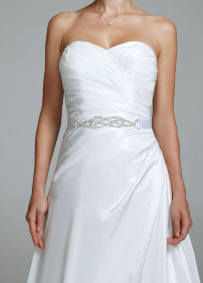 Satin Beaded Knot Embellished Sash G1168