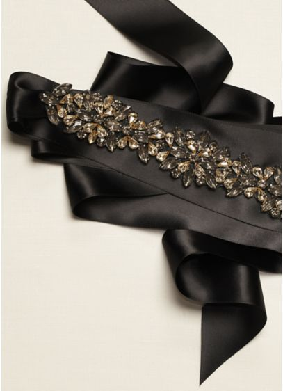 Embellished 3D Floral Sash - Wedding Accessories