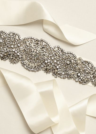 Heavily Embellished Sash with Scroll Detail G22212