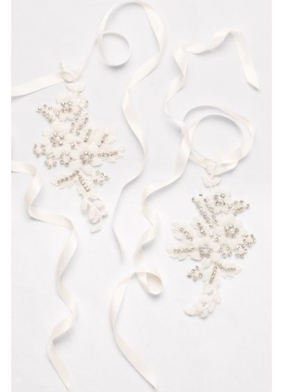 David's Bridal Ivory (Crochet Lace Foot Jewelry with Beading)