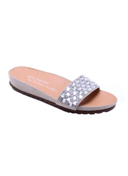Ann Marino by Bettye Muller Beige (Ann Marino by Bettye Muller Galaxy Slide Sandals)