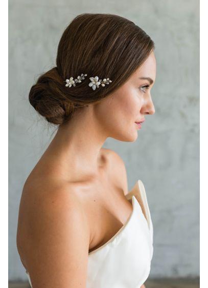 Freshwater Pearl Flower Hair Pin - Wedding Accessories
