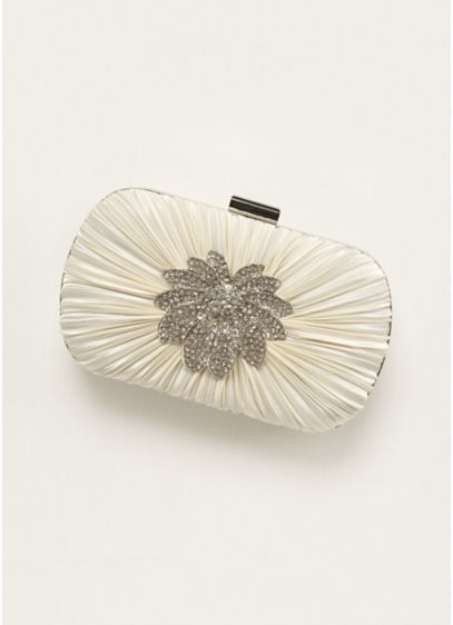 Jessica McClintock Pleated Minaudiere Handbag - Wedding Accessories