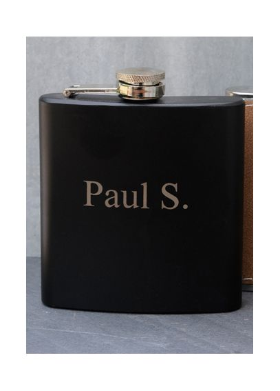 Personalized Black Matte Finish Flask GC1026