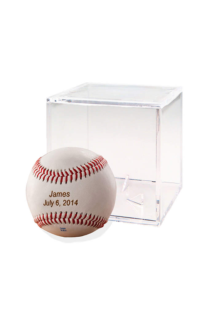 Personalized Baseball with Case - Classic Rawlings Personalized Leather Baseball and Acrylic Case.
