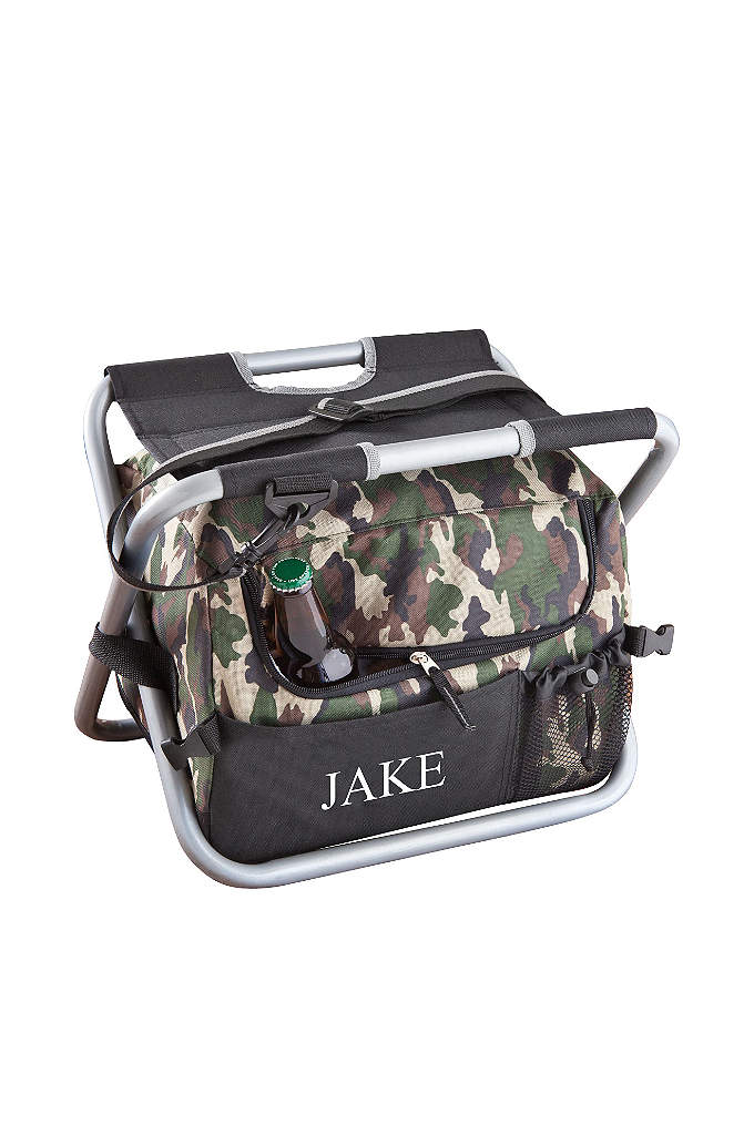 Personalized Deluxe Camouflage Sit n Sip Cooler - Every man needs a reliable portable cooler but
