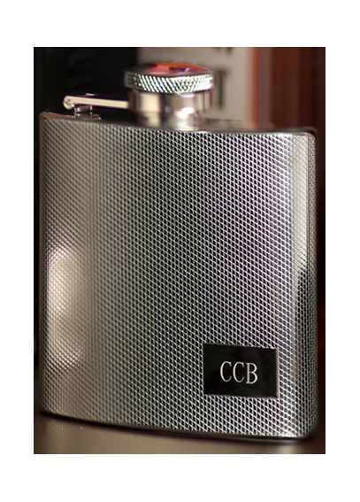 Personalized Textured Stainless Steel Flask GC118