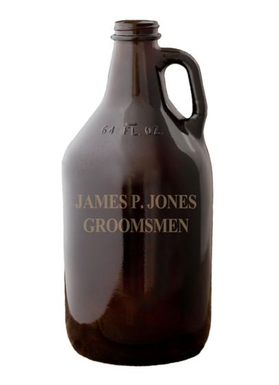 Personalized Amber Growler - Wedding Gifts & Decorations