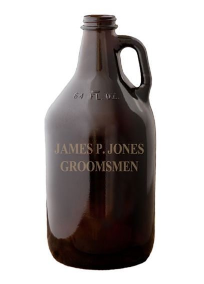 Personalized Amber Growler GC1204