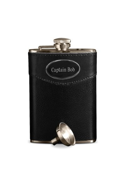Personalized 8 oz. Leather Flask GC267