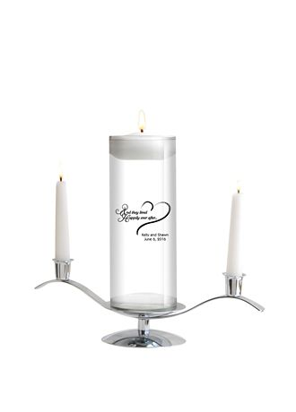 Personalized Floating Designs Unity Candle Set - A modern twist on an old tradition, this