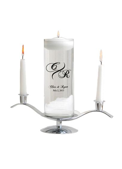 Personalized Modern  Floating Unity Candle Set - Wedding Gifts & Decorations