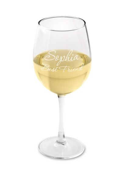 Personalized Connoisseur White Wine Glass - Wedding Gifts & Decorations