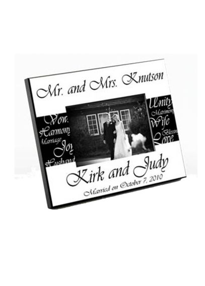 Personalized Mr. and Mrs. Wedding Frame GC430