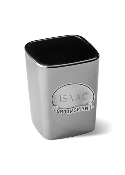 Personalized Gunmetal Shot Glass with Medallion GC822
