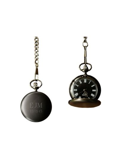 Personalized Midnight Pocket Watch - Wedding Gifts & Decorations