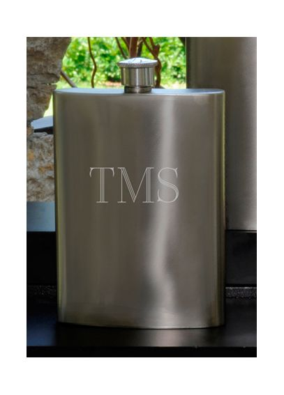 Personalized Gunmetal Flask GC972