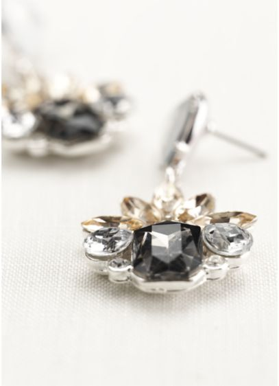 Faceted Geo Drop Earrings - Wedding Accessories