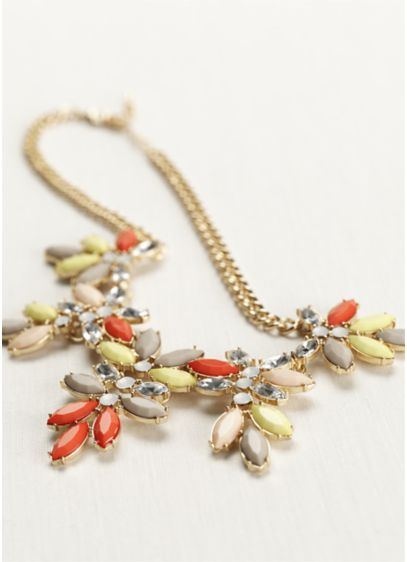 Oval Faceted Stone Statement Piece - Wedding Accessories