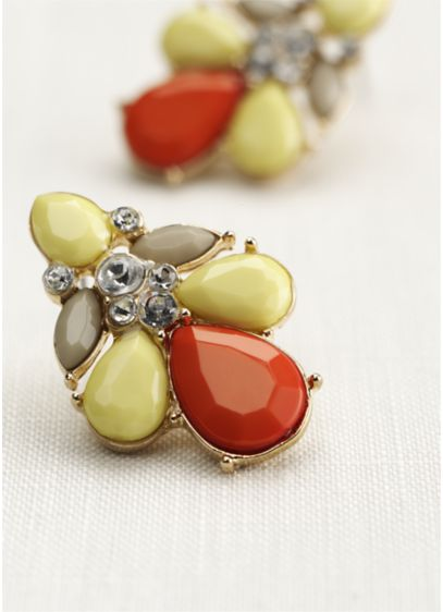 Faceted Pearl Shaped Earrings - Wedding Accessories