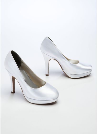 White (Dyeable High Heel Platform Pump)