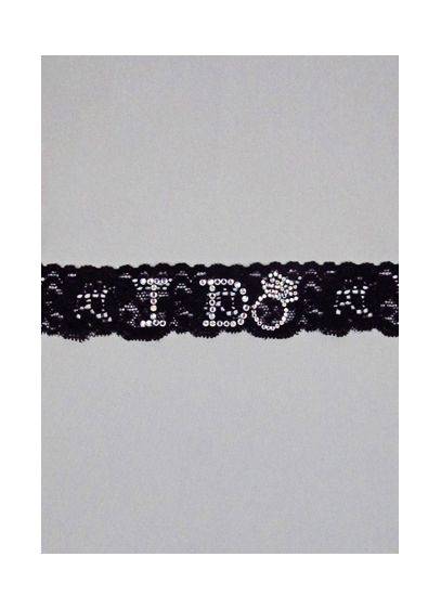 Lace Garter with Rhinestone I Do - Wedding Gifts & Decorations