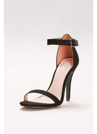 Anne Michelle Black (Simple Ankle Strap Sandals)
