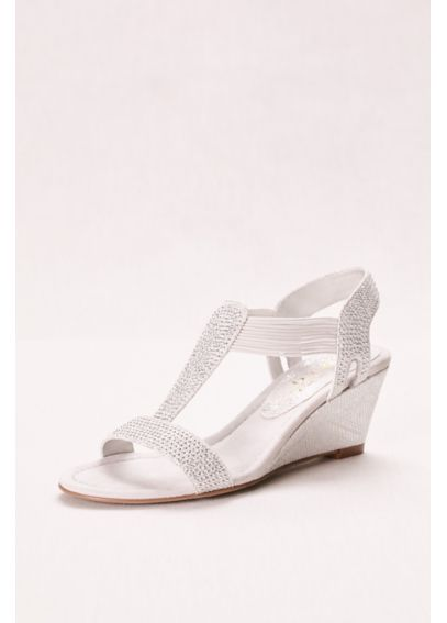 Glitter Wedge Sandal with Studded Elastic Straps GIVENMOMENT