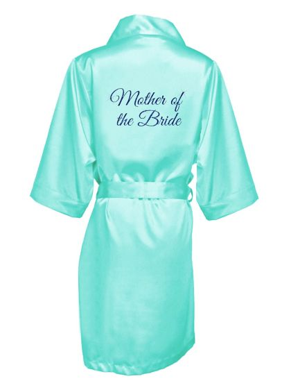 Glitter Print Mother of the Bride Satin Robe - Wedding Gifts & Decorations