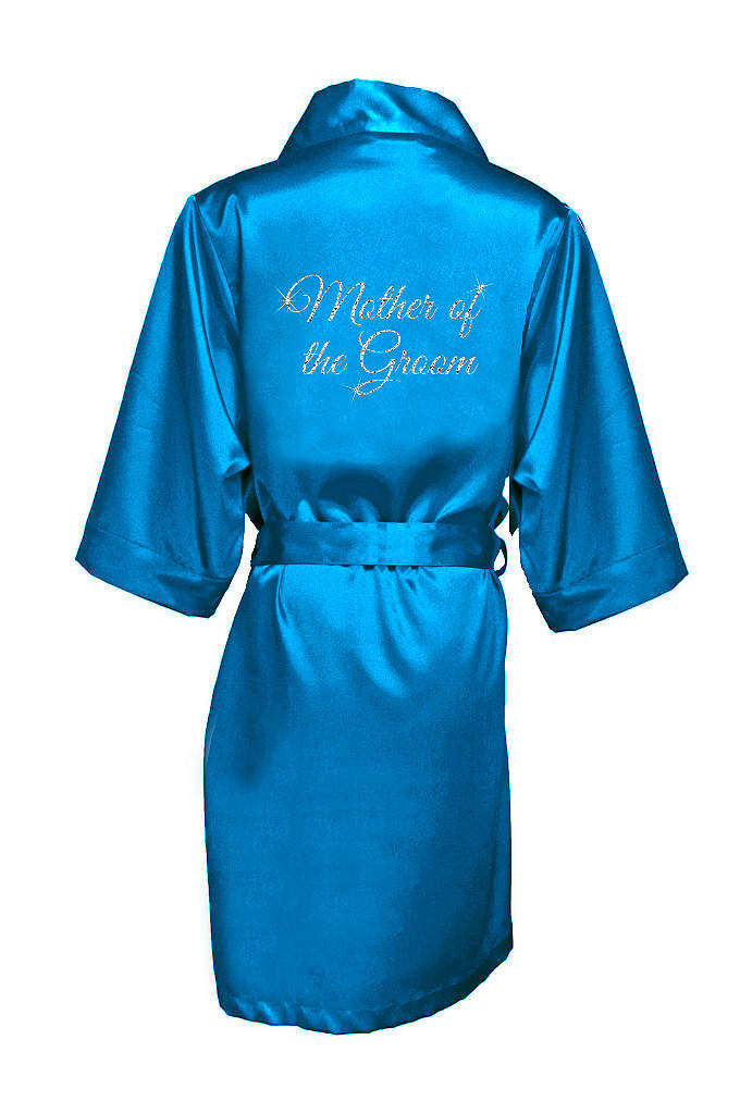 Glitter Print Mother of the Groom Satin Robe - Wrap the mother of the groom in luxury