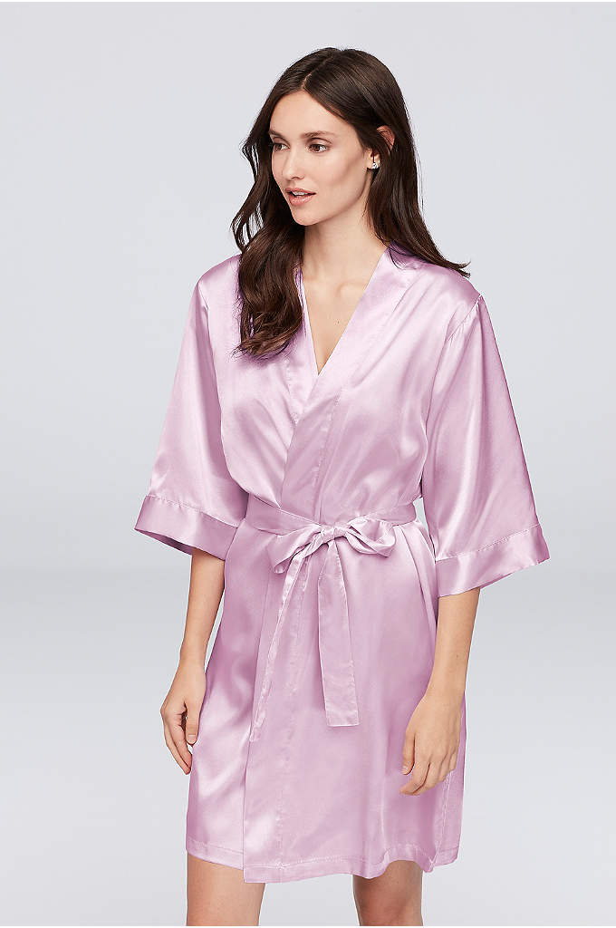 Personalized Glitter Print Name Satin Robe - Wrap your bridesmaids in luxury in this gorgeous