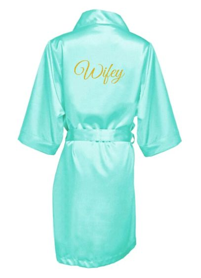 Glitter Print Wifey Satin Robe - Wedding Gifts & Decorations