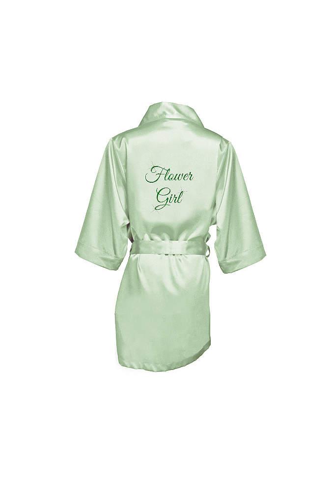 Glitter Print Flower Girl Satin Robe - This adorable satin flower girl robe will make