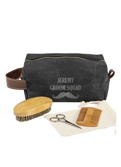 Personalized Mustache Dopp Kit and Grooming Set - Wedding Gifts & Decorations