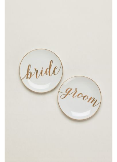 Yellow (Bride And Groom Dessert Plates Set of 2)