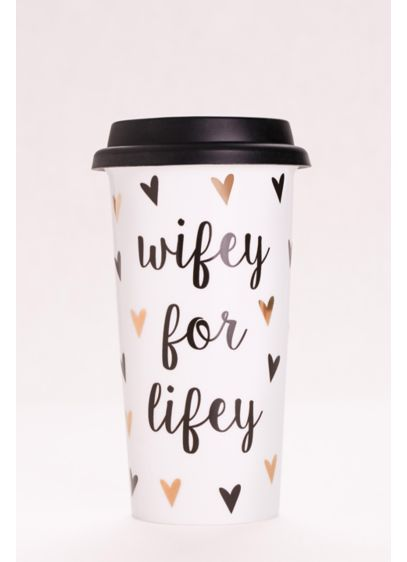 White (Wifey for Lifey Travel Mug)