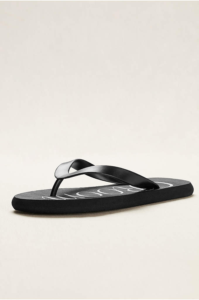 Groom Flip Flops - A special pair for the groom, these flip-flops
