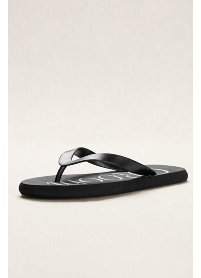 David's Bridal Black (Groom Flip Flops)